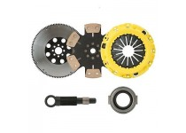 CLUTCHXPERTS STAGE 4 SOLID CLUTCH+9LBS CHROMOLY FLYWHEEL KIT 92-93 INTEGRA GS